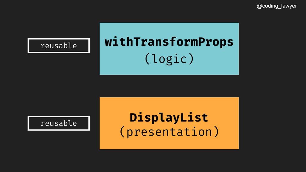 @coding_lawyer DisplayList (presentation) withT...