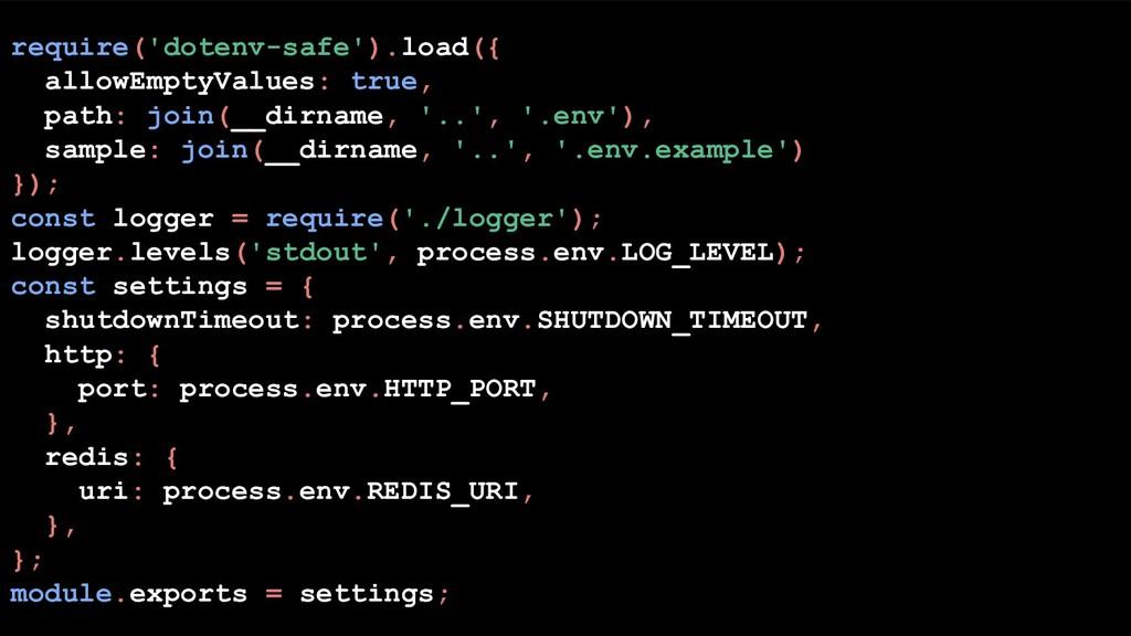 require('dotenv-safe').load({ allowEmptyValues:...