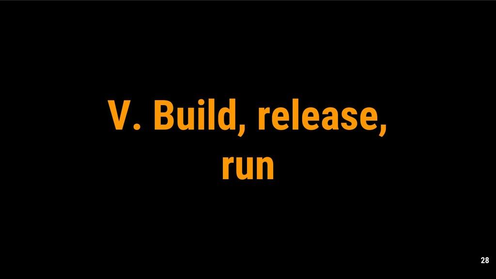 28 V. Build, release, run