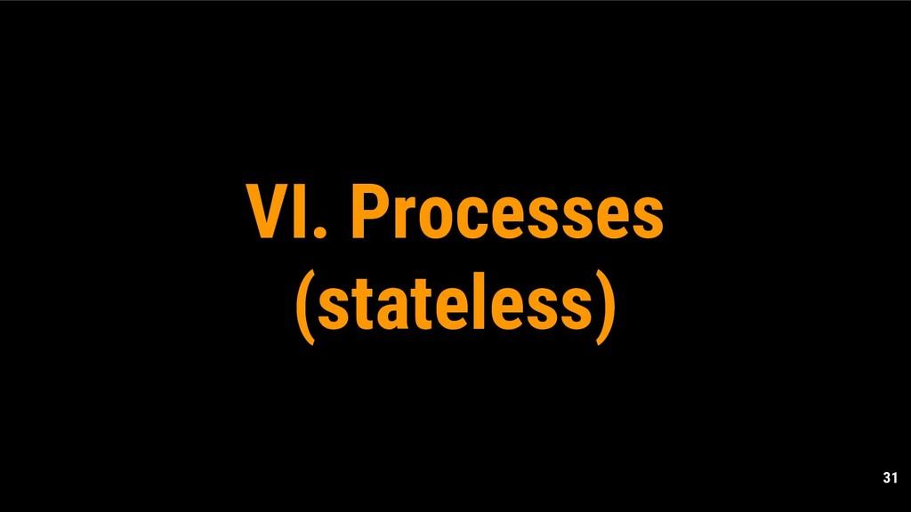 31 VI. Processes (stateless)
