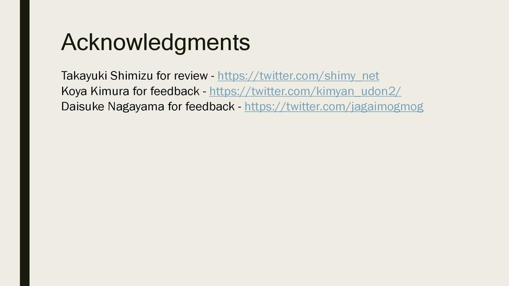 Acknowledgments Takayuki Shimizu for review - h...