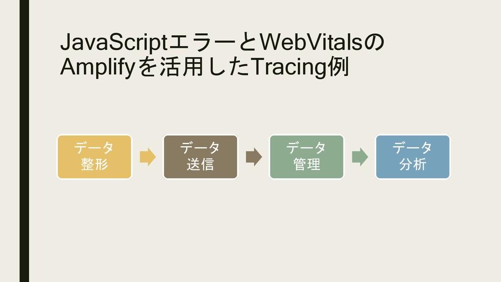 JavaScriptエラーとWebVitalsの Amplifyを活用したTracing例 デ...