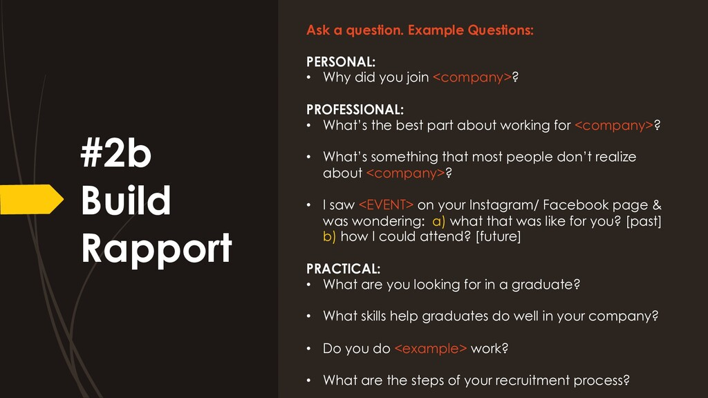 Ask a question. Example Questions: PERSONAL: • ...