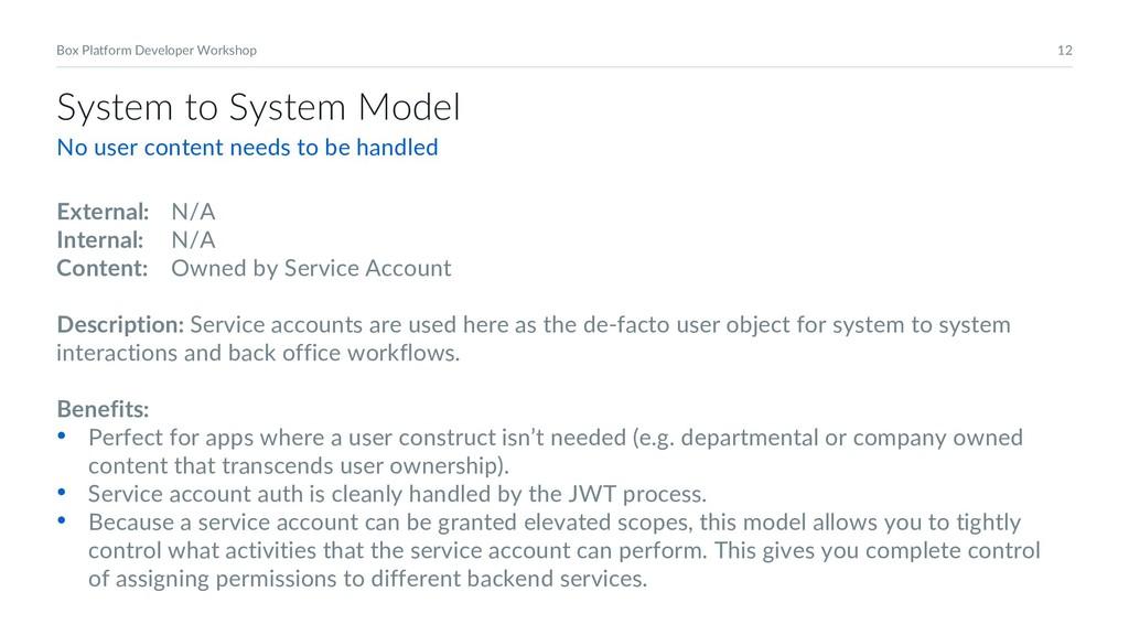 12 Box Platform Developer Workshop System to Sy...