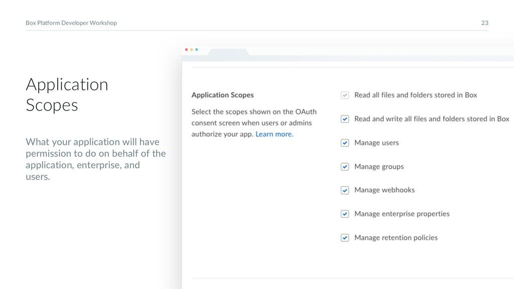 23 Box Platform Developer Workshop Application ...