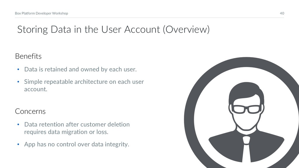 40 Box Platform Developer Workshop Storing Data...