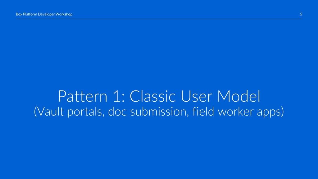 5 Box Platform Developer Workshop Pattern 1: Cl...