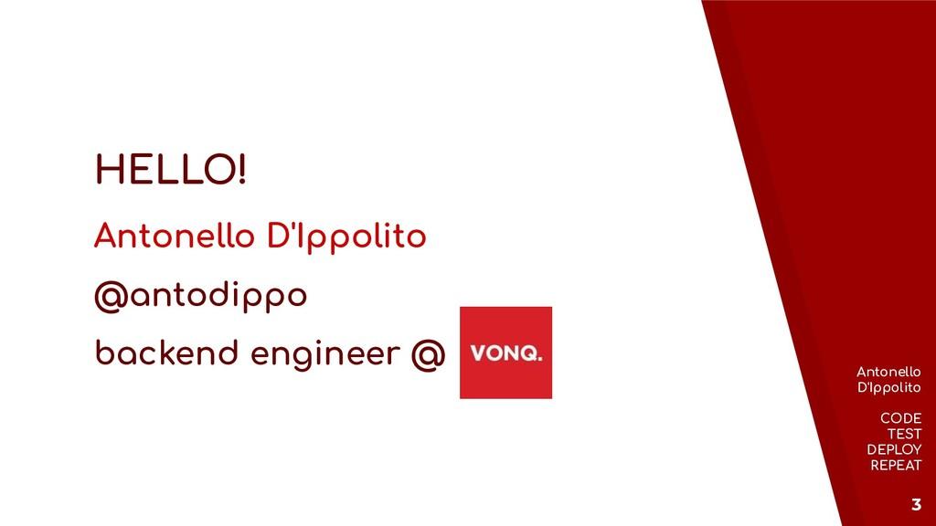 Antonello D'Ippolito CODE TEST DEPLOY REPEAT 3 ...