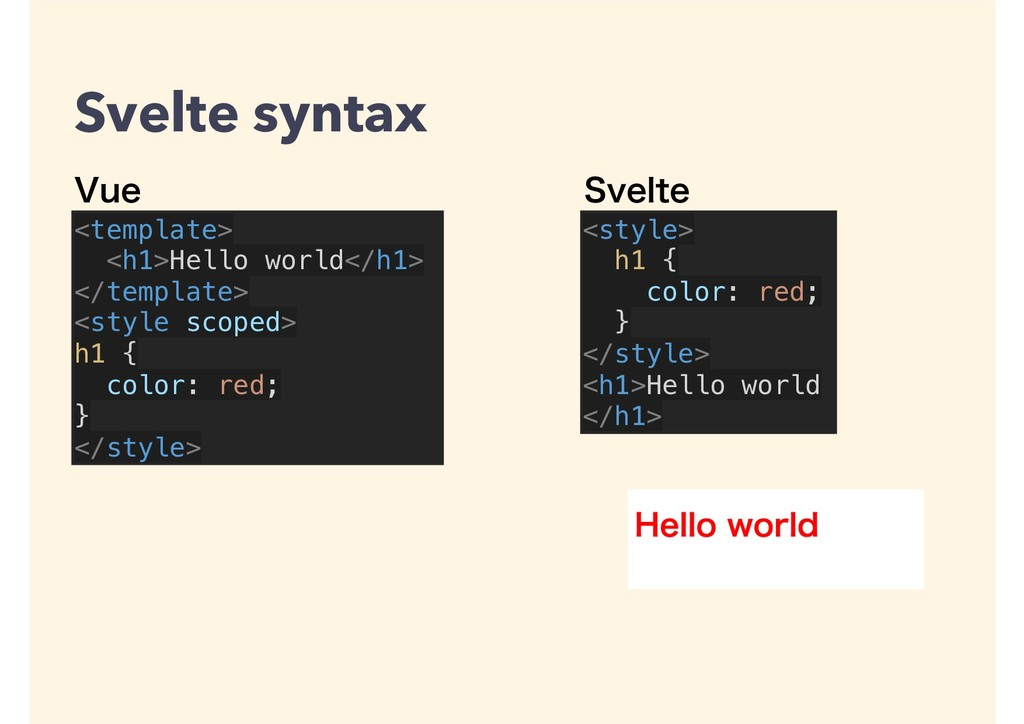 <template> <h1>Hello world</h1> </template> <st...
