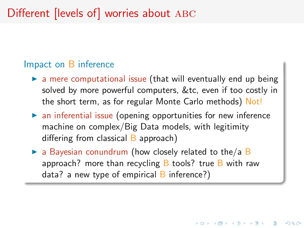 Different [levels of] worries about abc Impact o...