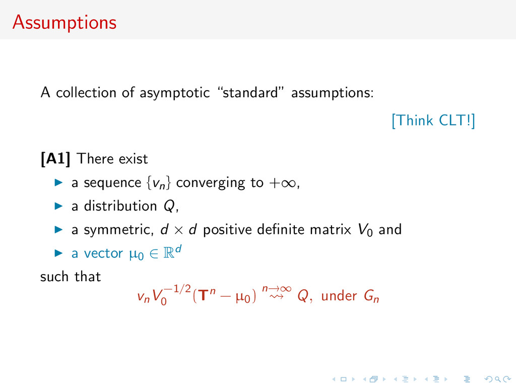 """Assumptions A collection of asymptotic """"standar..."""