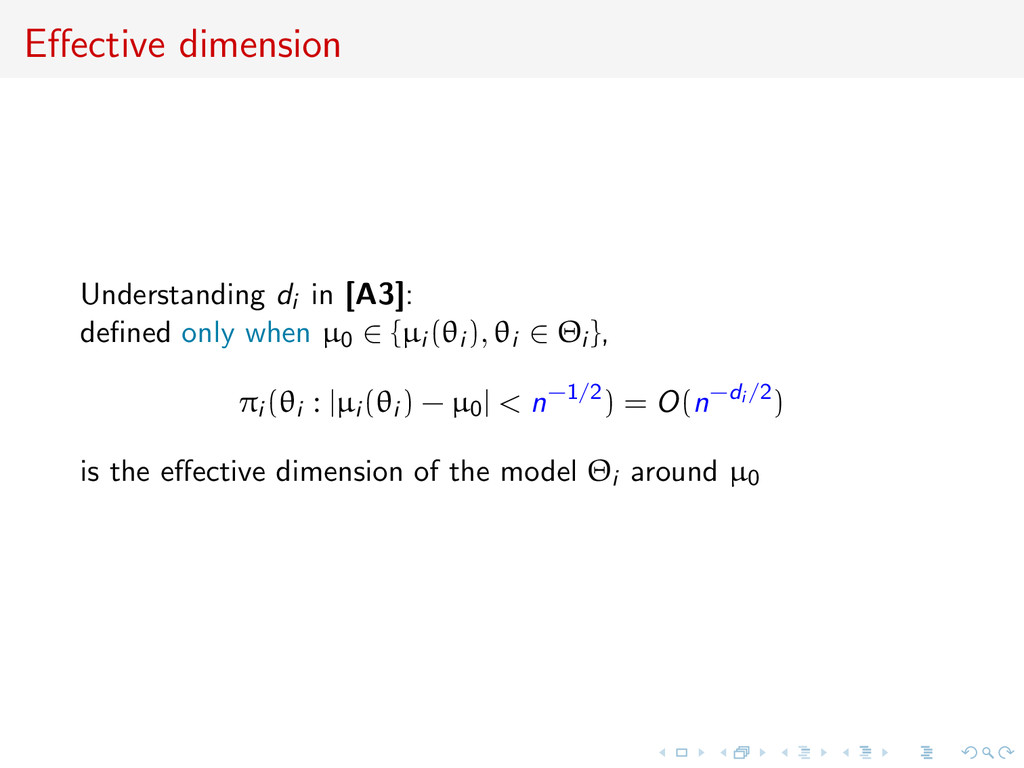 Effective dimension Understanding di in [A3]: de...