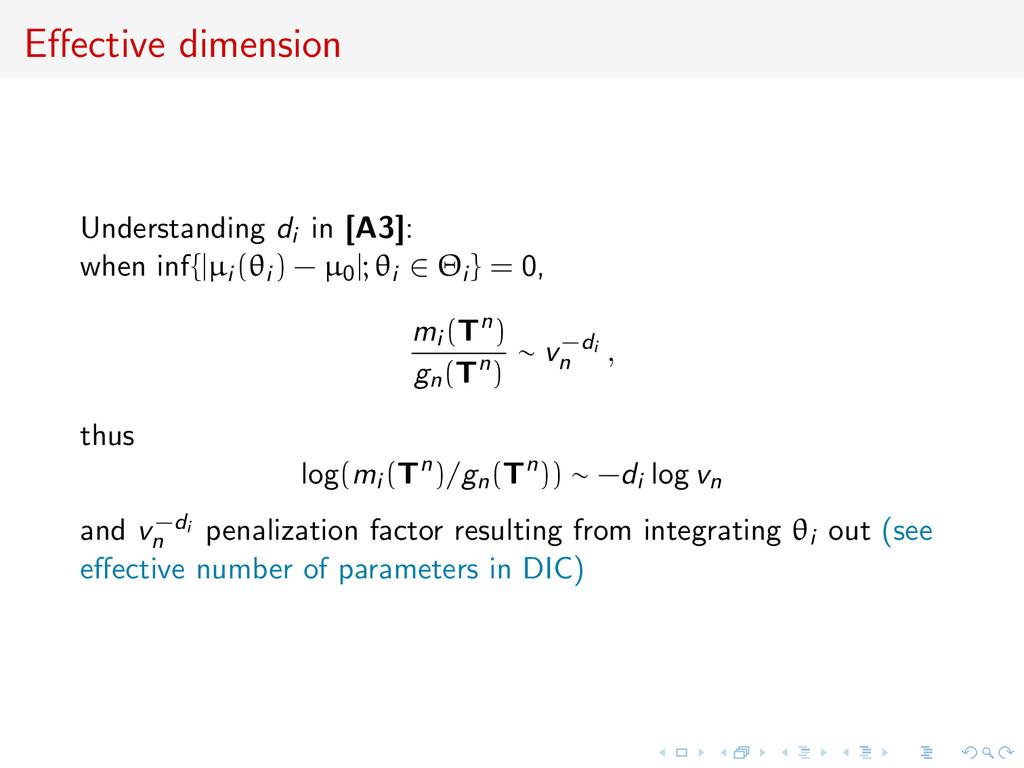 Effective dimension Understanding di in [A3]: wh...