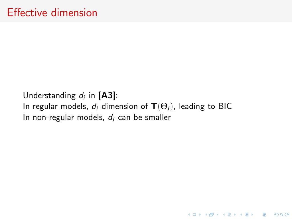 Effective dimension Understanding di in [A3]: In...