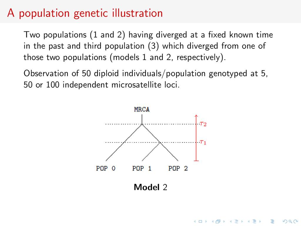 A population genetic illustration Two populatio...