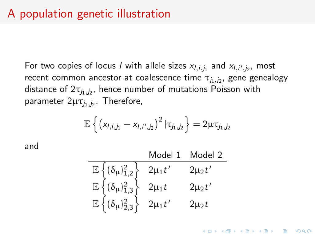 A population genetic illustration For two copie...
