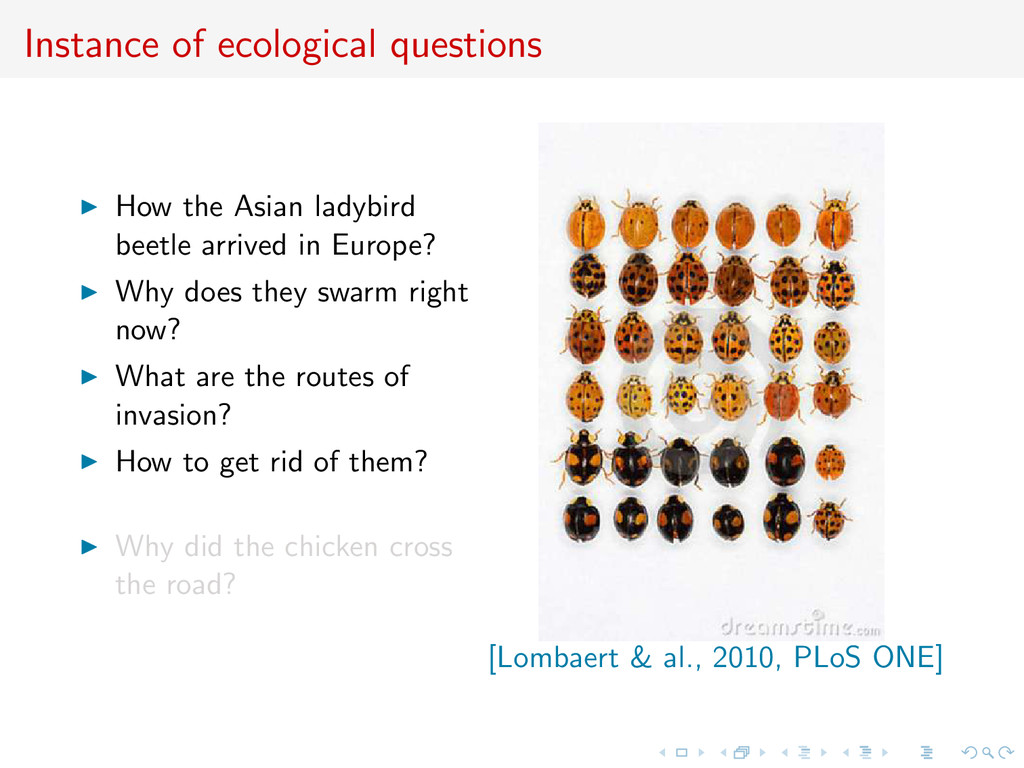 Instance of ecological questions How the Asian ...