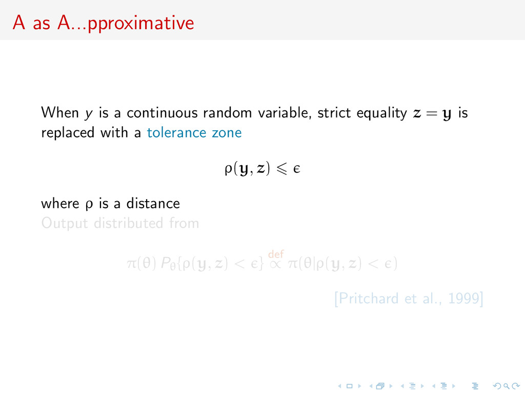 A as A...pproximative When y is a continuous ra...
