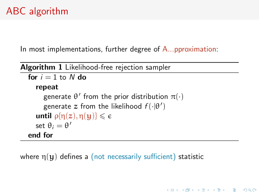 ABC algorithm In most implementations, further ...