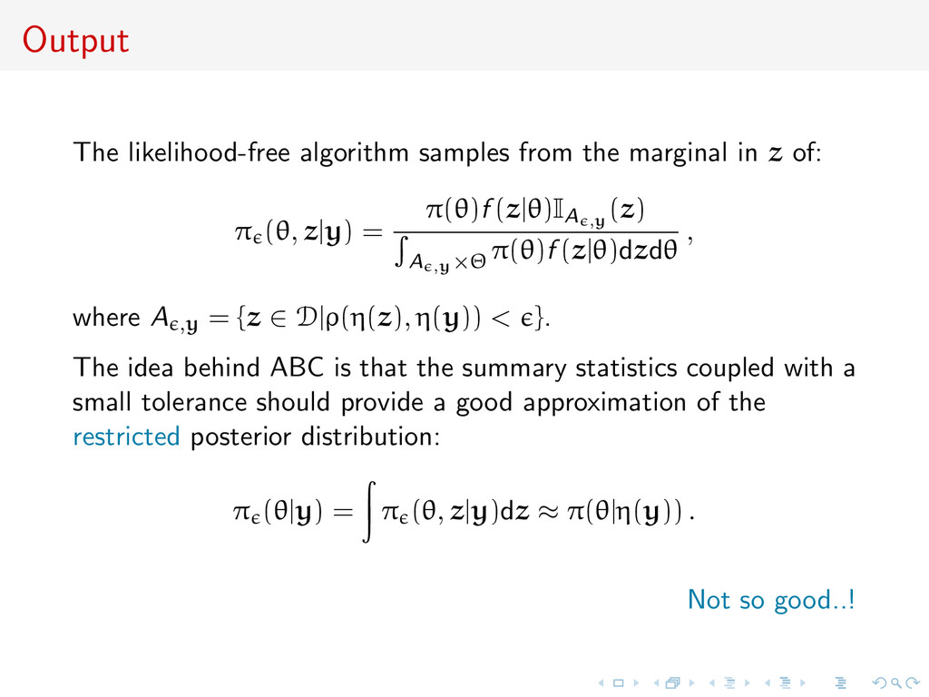 Output The likelihood-free algorithm samples fr...