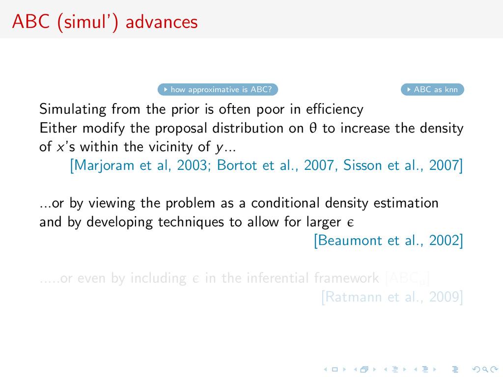 ABC (simul') advances how approximative is ABC?...