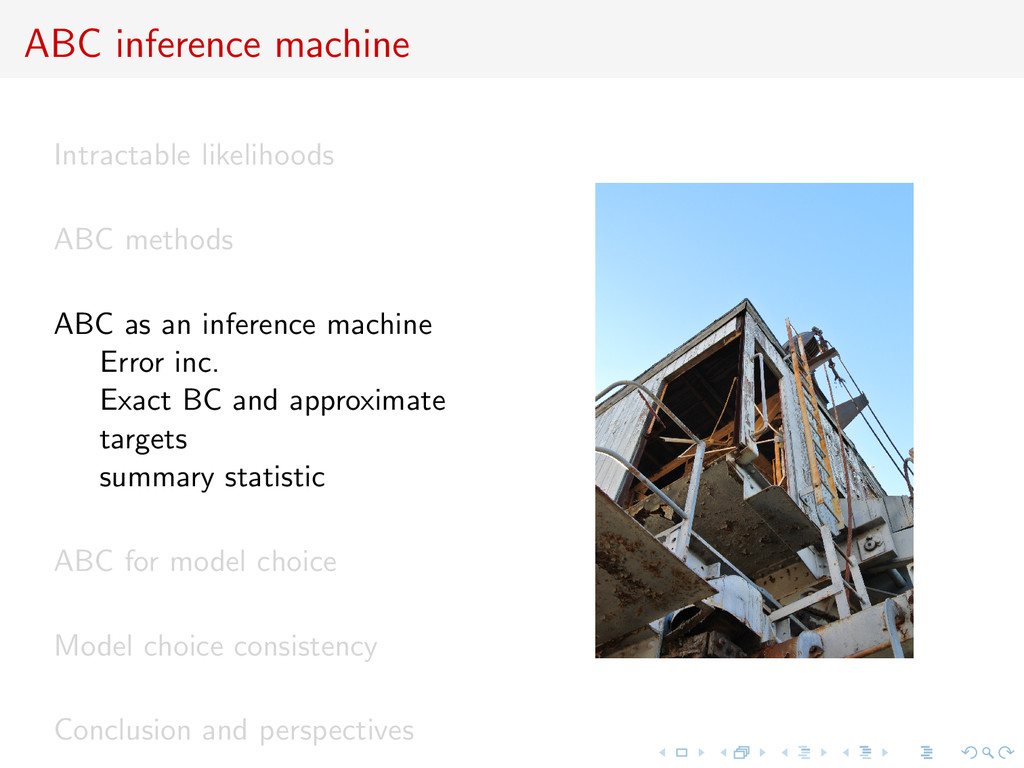 ABC inference machine Intractable likelihoods A...