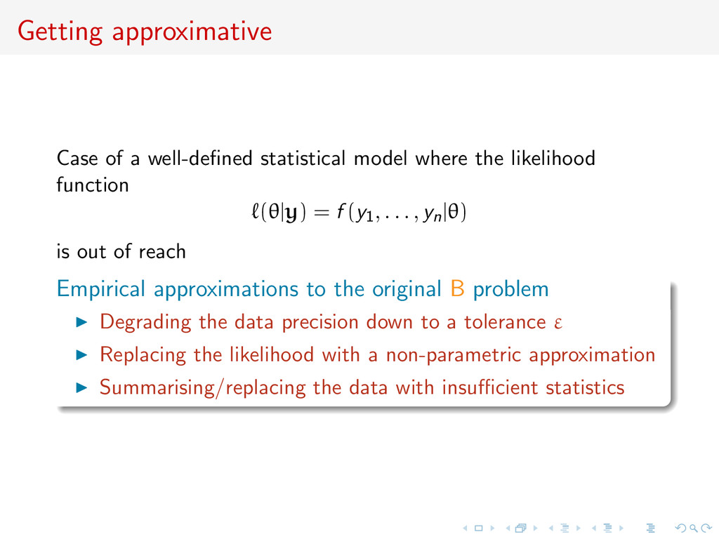 Getting approximative Case of a well-defined sta...