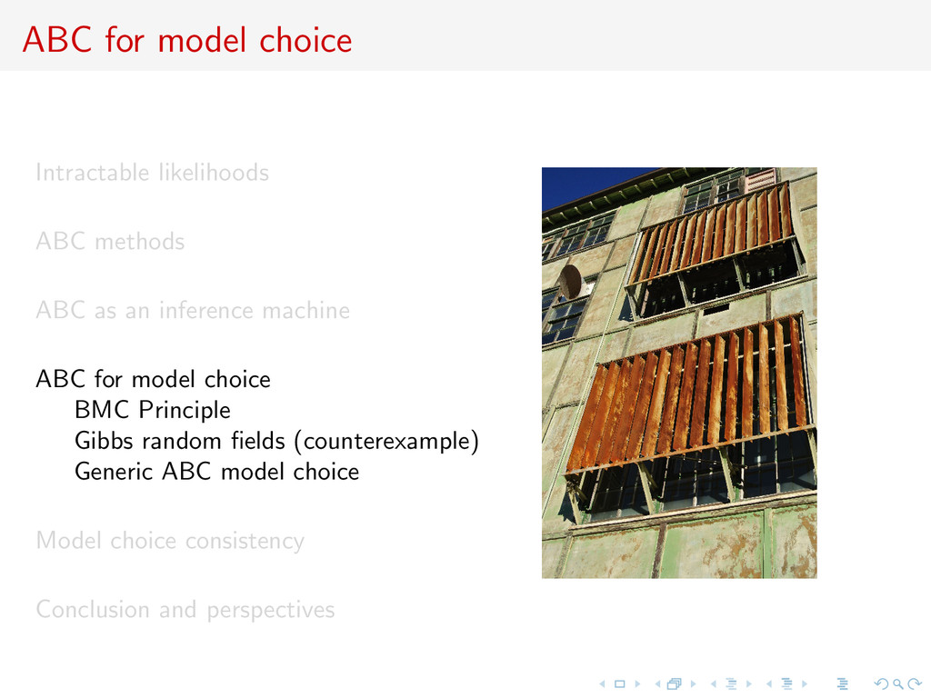ABC for model choice Intractable likelihoods AB...
