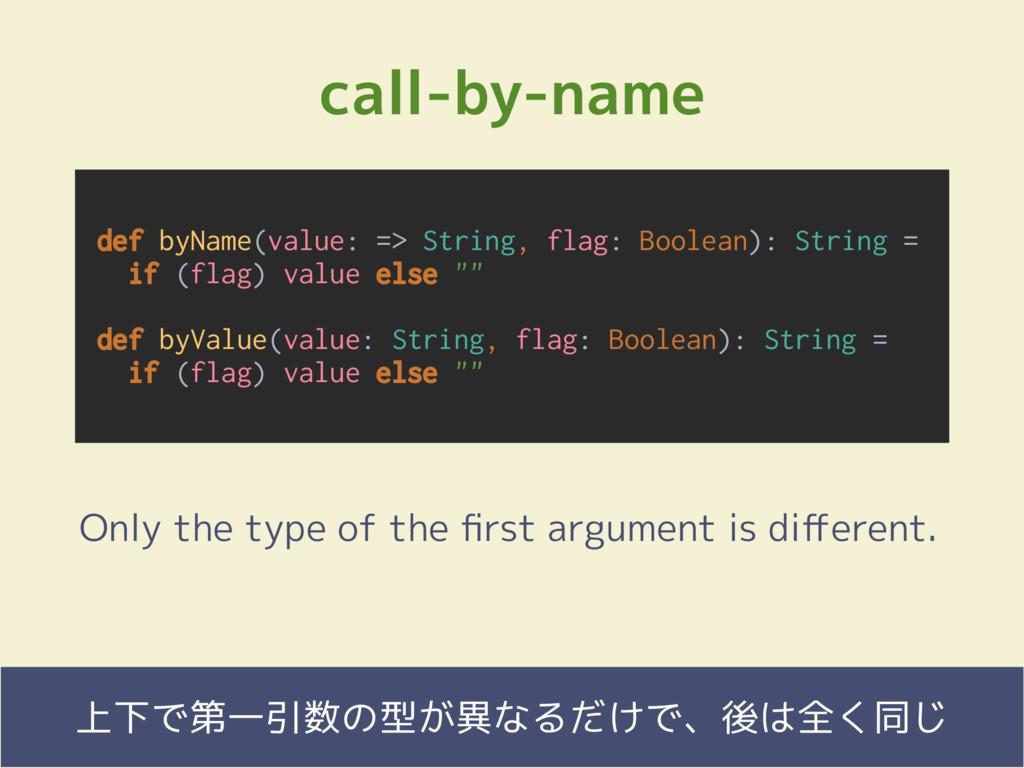 Fringe81 Co., Ltd. call-by-name  上下で第一引数の型が異な...