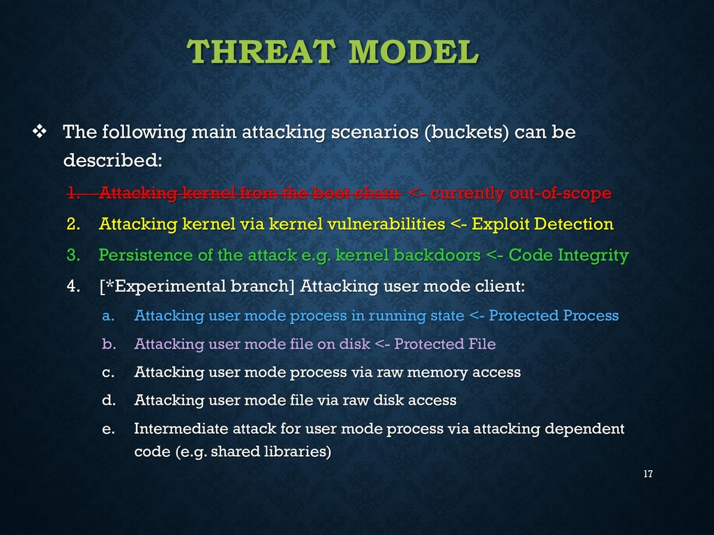 17 THREAT MODEL  The following main attacking ...