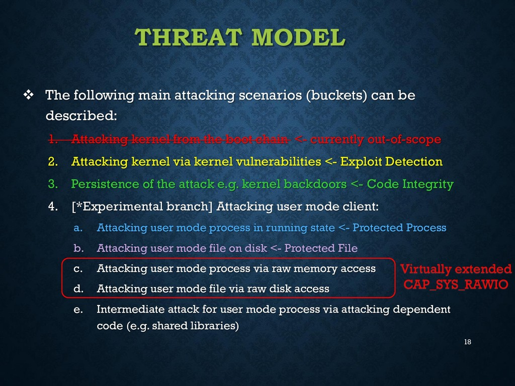 18 THREAT MODEL  The following main attacking ...