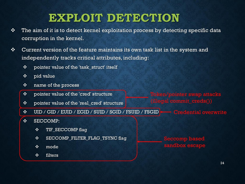 24 EXPLOIT DETECTION  The aim of it is to dete...