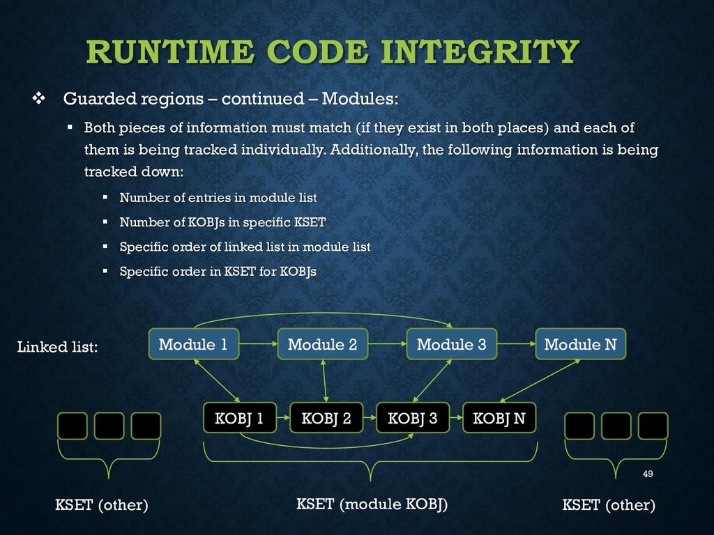 49 RUNTIME CODE INTEGRITY  Guarded regions – c...