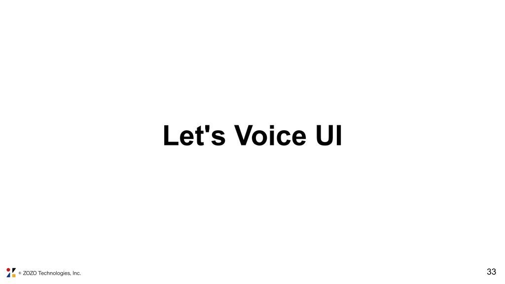 ˜;0;05FDIOPMPHJFT*OD !33 Let's Voice UI