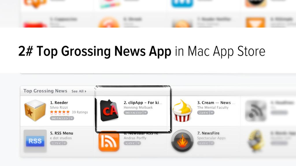 2# Top Grossing News App in Mac App Store