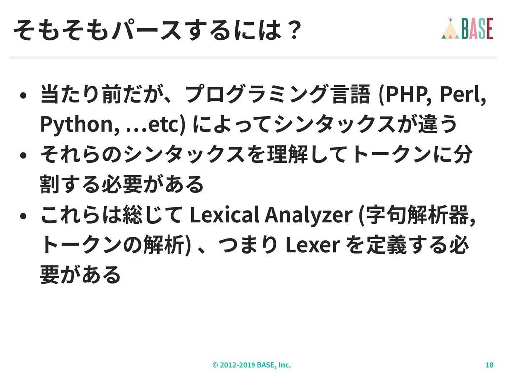 © - BASE, Inc. (PHP, Perl, Python, etc) Lexical...