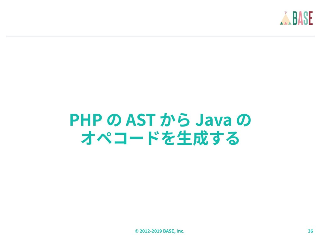 © - BASE, Inc. PHP AST Java