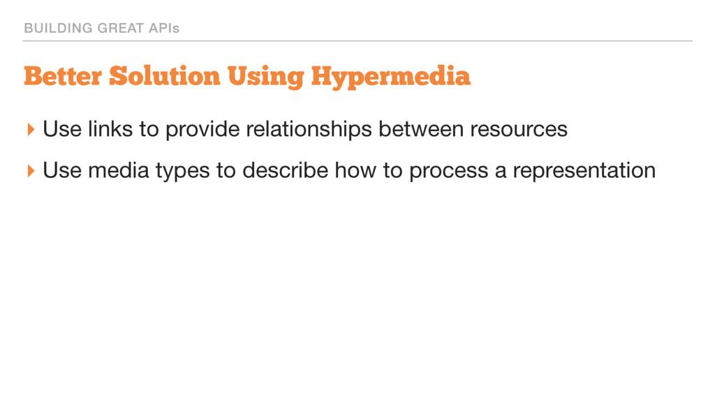 BUILDING GREAT APIs Better Solution Using Hyper...
