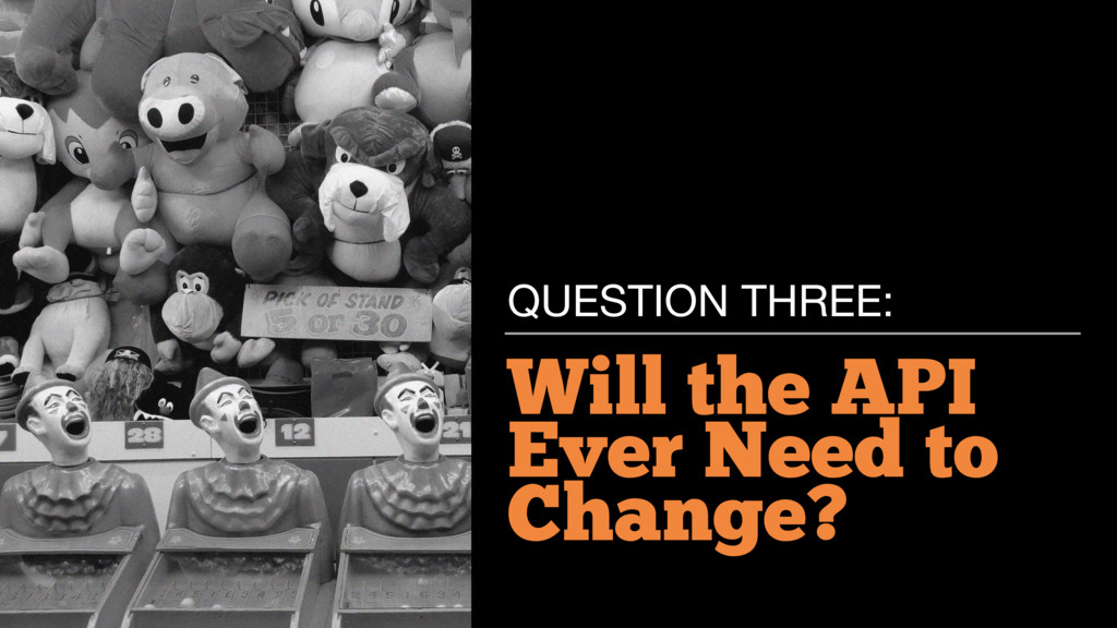 Will the API Ever Need to Change? QUESTION THRE...