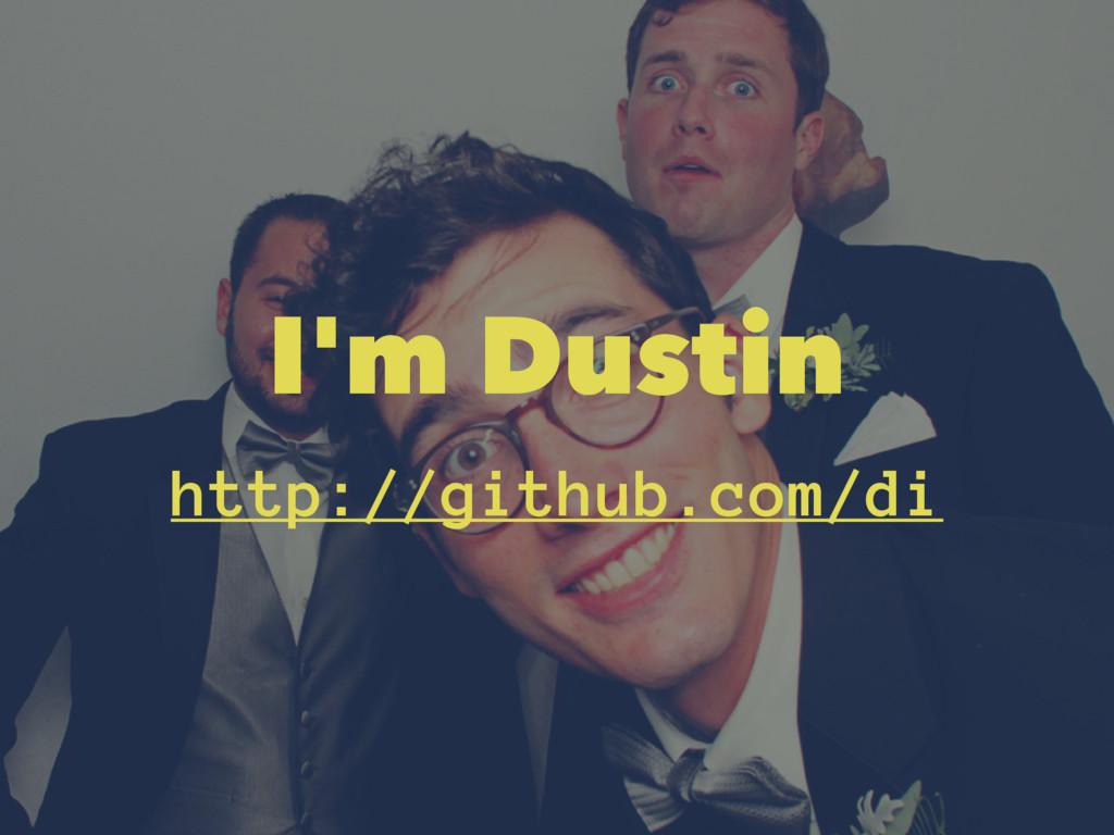 I'm Dustin http://github.com/di