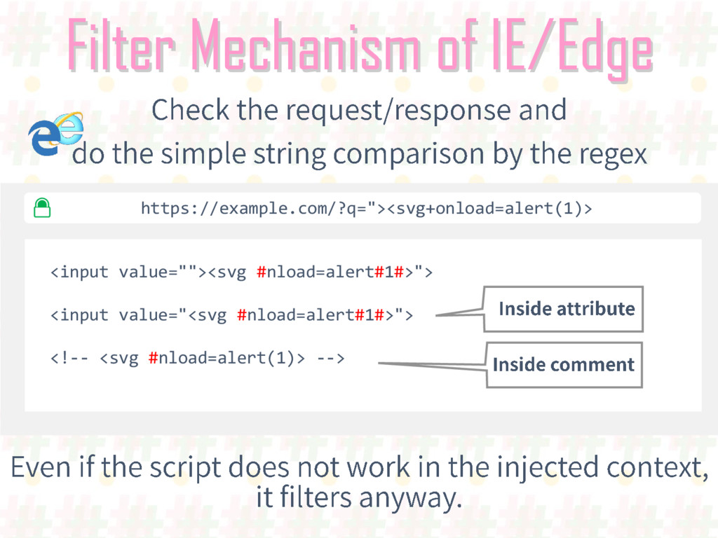 "Filter Mechanism of IE/Edge <input value=""""><sv..."
