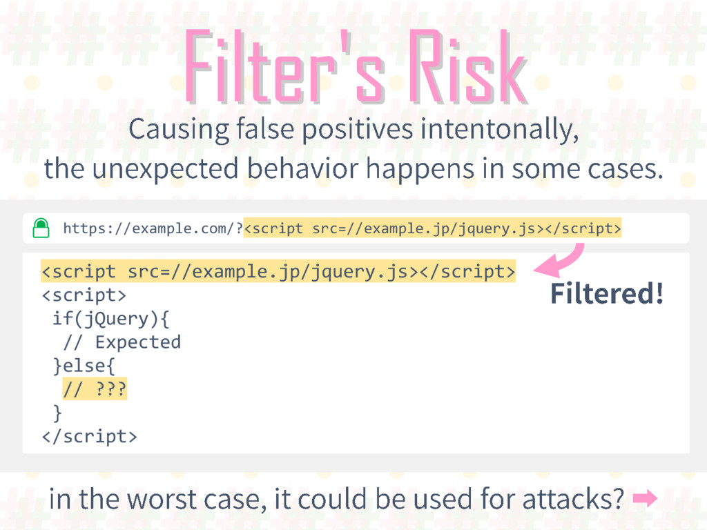 Filter's Risk <script src=//example.jp/jquery.j...