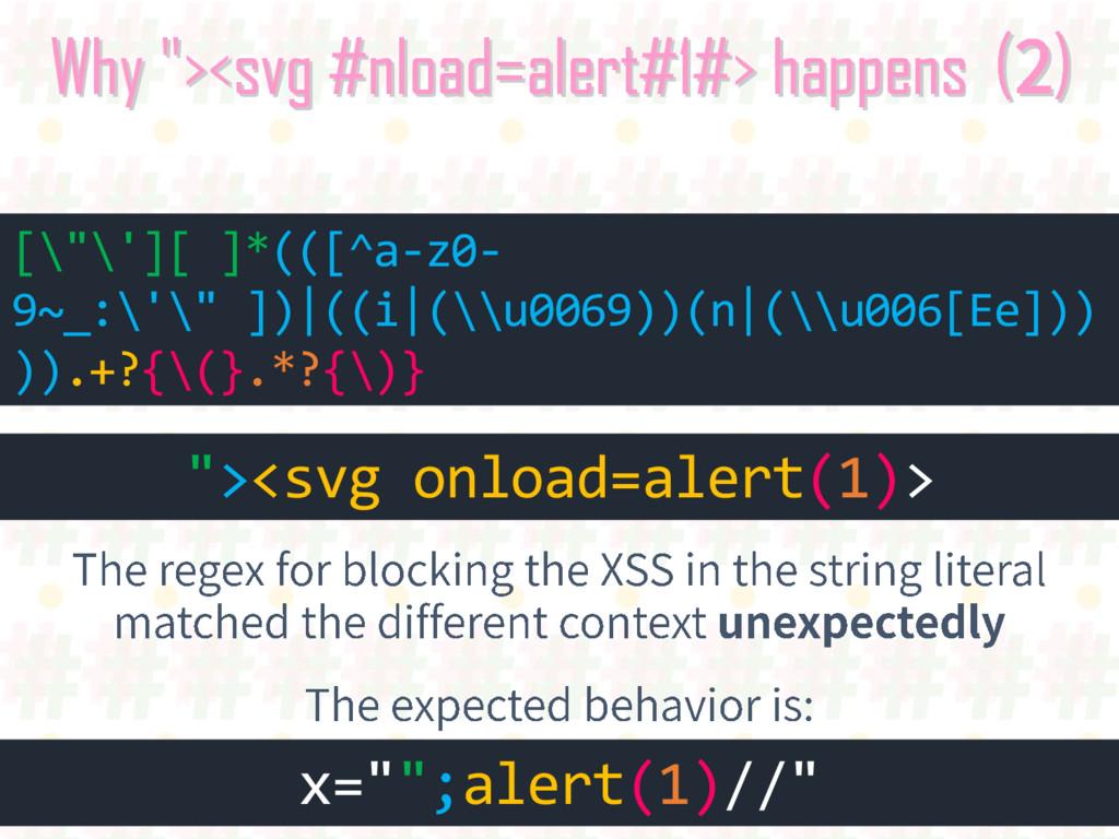 """Why """"><svg #nload=alert#1#> happens """"><svg onlo..."""