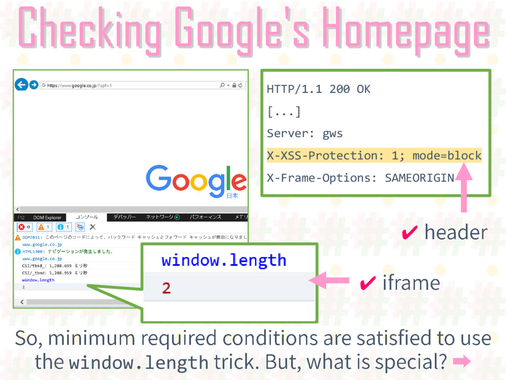 Checking Google's Homepage HTTP/1.1 200 OK [......