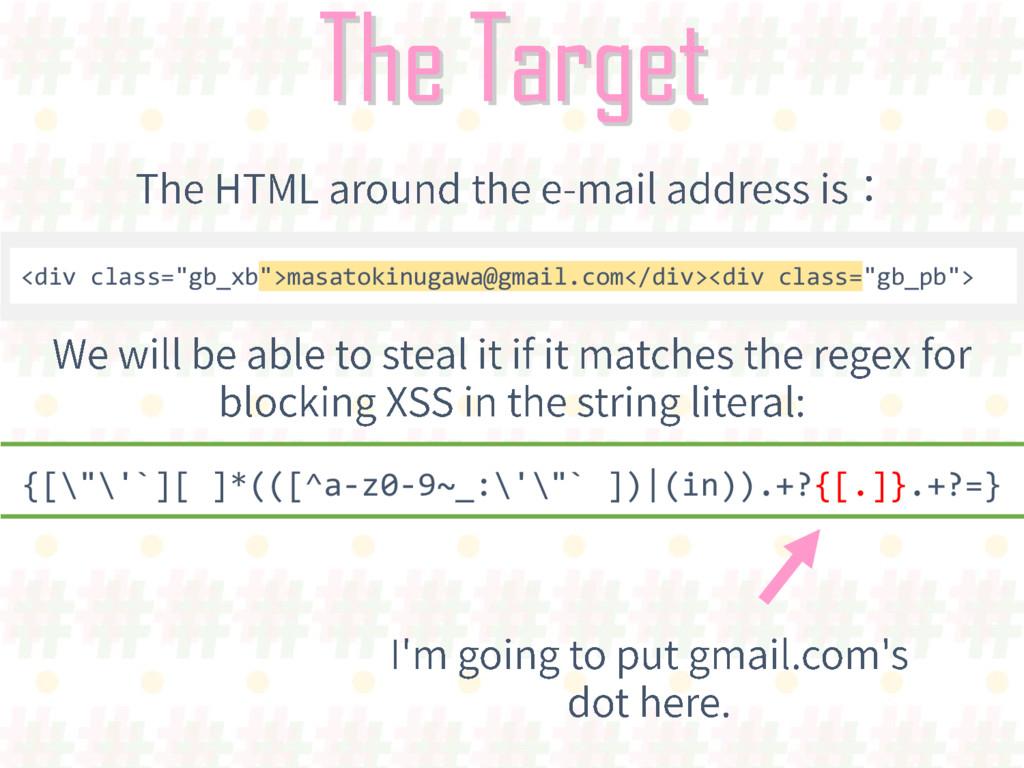 """The Target <div class=""""gb_xb"""">masatokinugawa@gm..."""