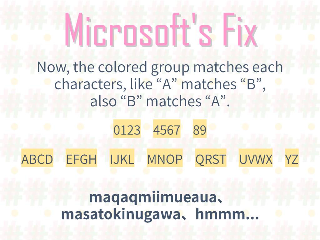 Microsoft's Fix