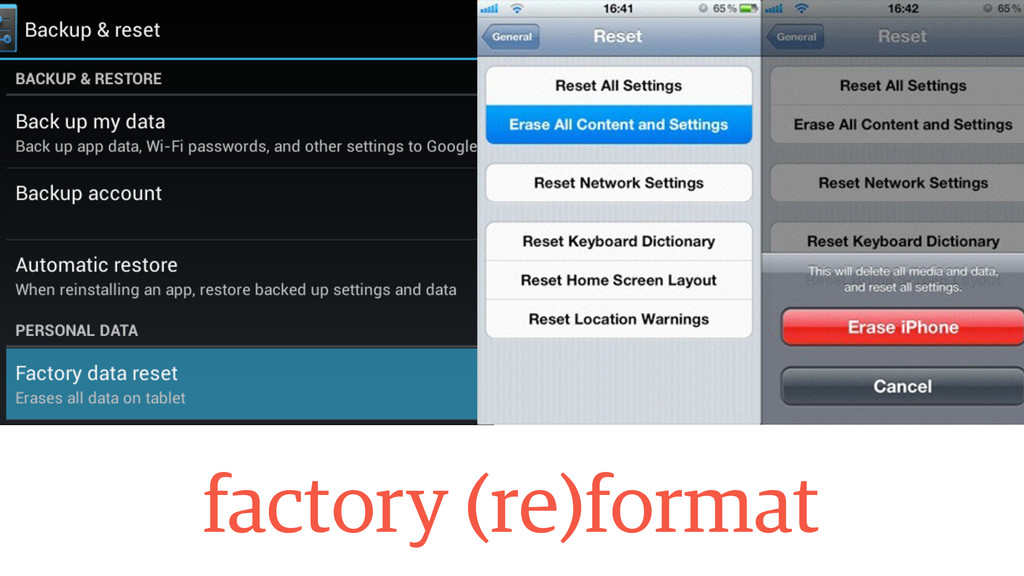factory (re)format