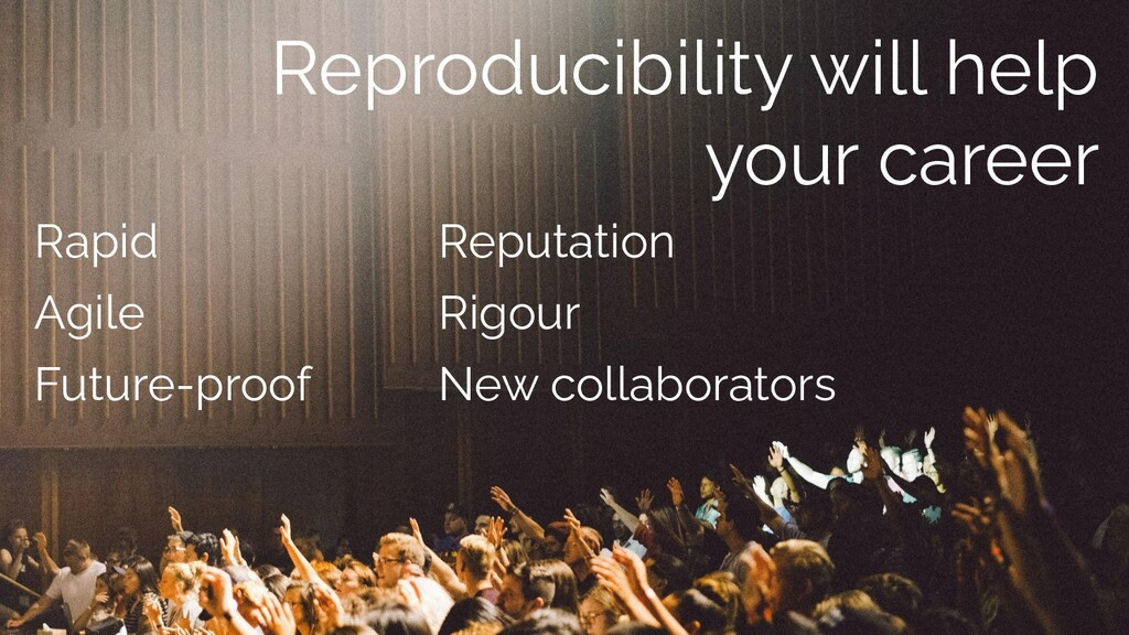 Reproducibility will help your career Reputatio...