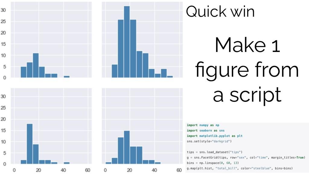 Make 1 figure from a script Quick win