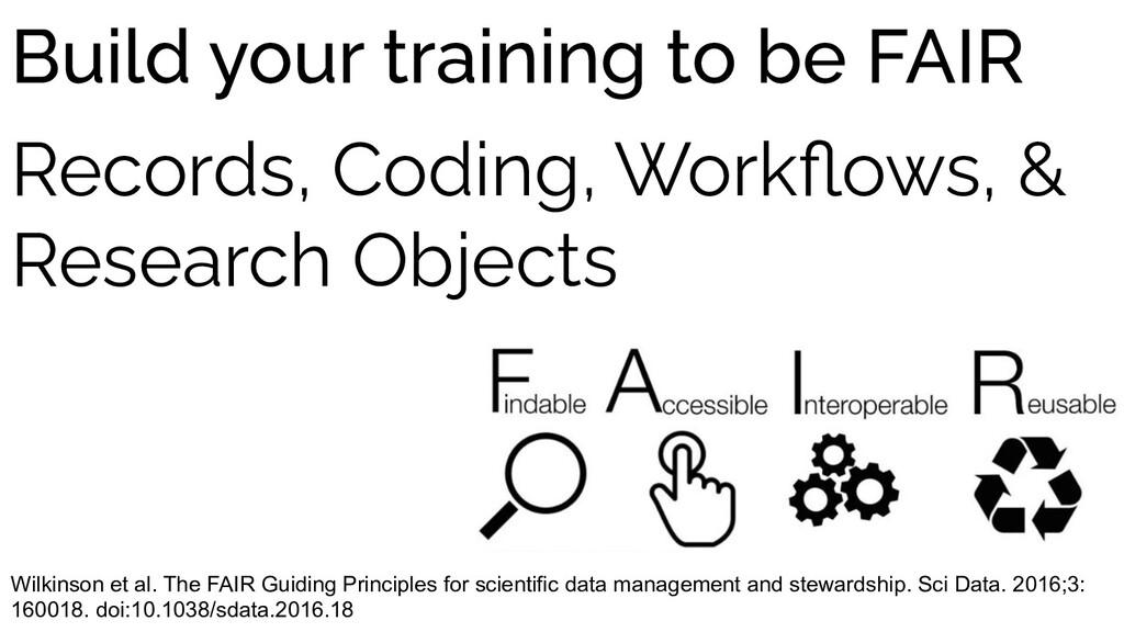 Wilkinson et al. The FAIR Guiding Principles fo...